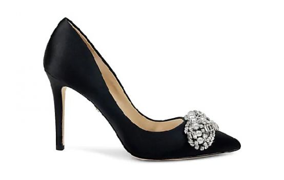 Badgley Mischka Olga Embellished Satin Pumps-03
