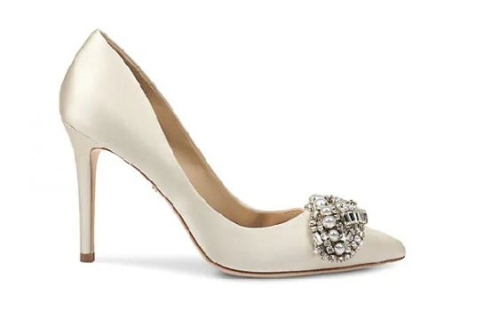 Badgley Mischka Olga Embellished Satin Pumps-06