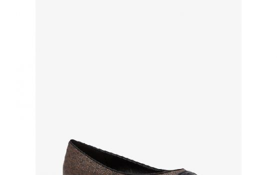 Dylyn Logo and Leather Ballet Flat-01
