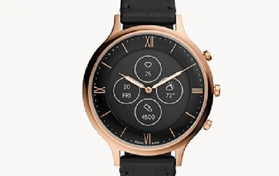 Hybrid Smartwatch HR Charter Rose Gold-Tone Stainless Steel Mesh-03