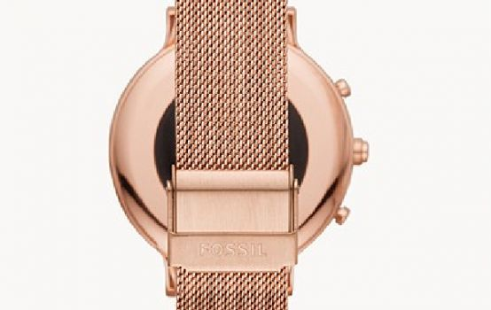 Hybrid Smartwatch HR Charter Rose Gold-Tone Stainless Steel Mesh-08