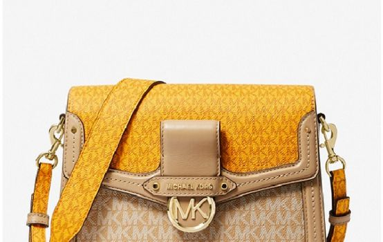 Jessie Medium Two-Tone Logo Shoulder Bag-01