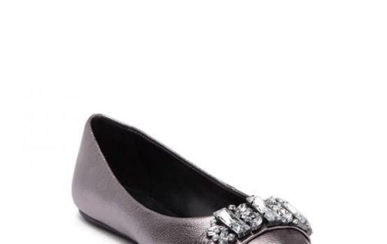 Karl Lagerfeld Paris Viola Embellished Leather Ballet Flat-02