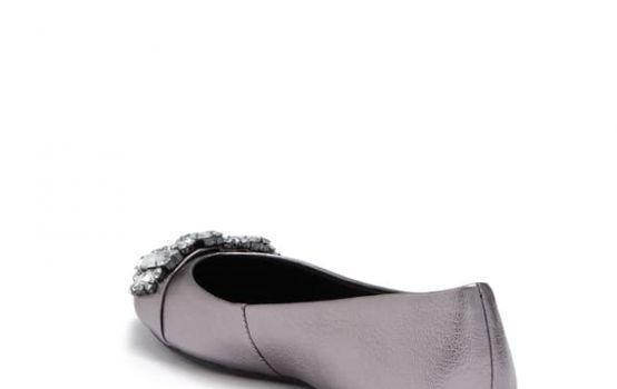 Karl Lagerfeld Paris Viola Embellished Leather Ballet Flat-03