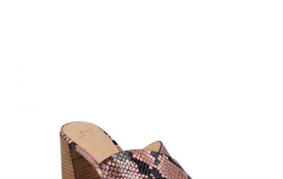 Marc Fisher LTD Saydi Croc Embossed Leather Slide Sandal-02