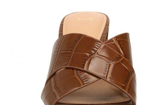 Marc Fisher LTD Saydi Croc Embossed Leather Slide Sandal-11