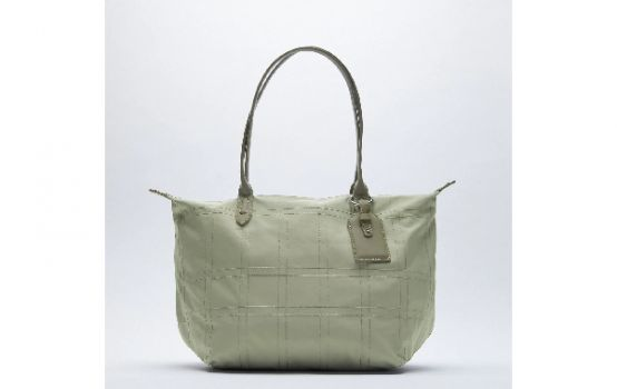 NYLON TOTE BAG WITH TOPSTITCHING-02