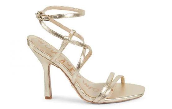 Sam Edelman Leeanne Metallic Leather Strappy Sandals 1