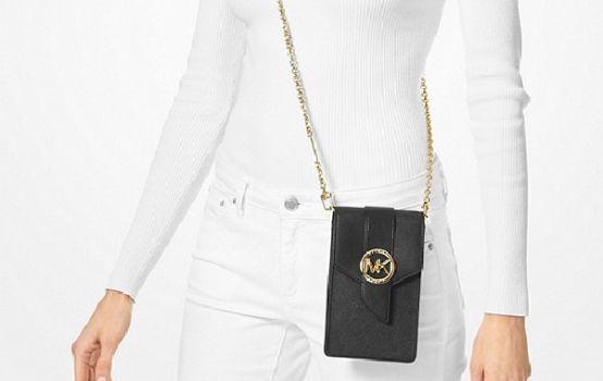 Small Saffiano Leather Smartphone Crossbody Bag-04