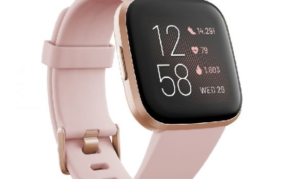 Versa 2 Rose Elastomer Strap Touchscreen Smart Watch 39mm-01