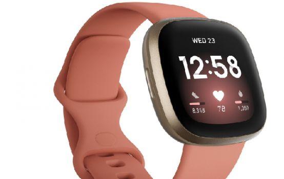 Versa 3 Pink Clay Strap Smart Watch 39mm-01