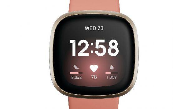 Versa 3 Pink Clay Strap Smart Watch 39mm-02