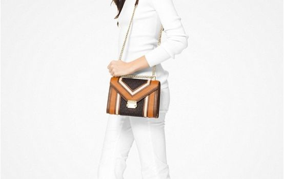 Whitney Large Logo and Leather Convertible Shoulder Bag-04