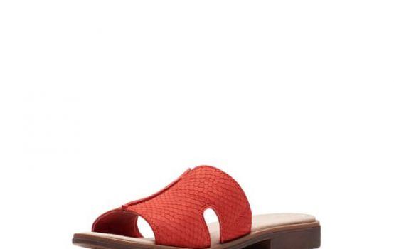 clarks Declan Snakeskin Embossed Sandal - Wide Width Available-01
