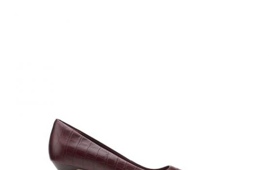clarks Linvale Jerica Croc Embossed Pump - Wide Width Available-03