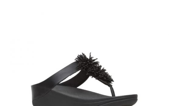 fitflop Fino Bead Pompom Wedge Sandal-04