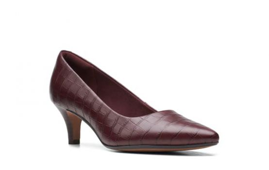 Clarks Linvale Jerica Croc Embossed Pump - Wide Width Available-02