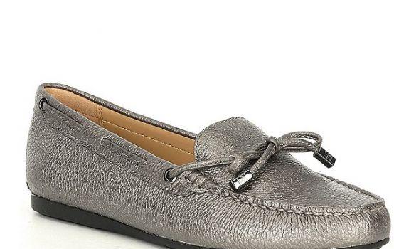 Michael Kors MICHAEL Michael Kors Sutton Pearlized Leather Moc Loafers-01